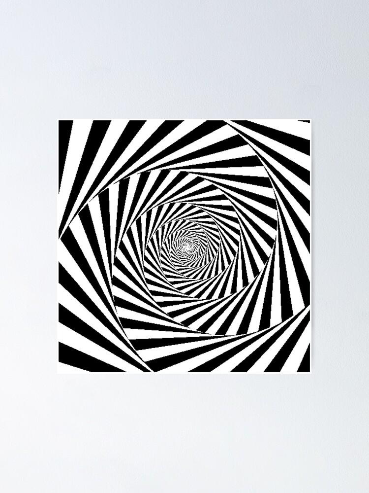 Alternate view of Espiral Hipnótica, Optical Illusion Beige Swirl Poster