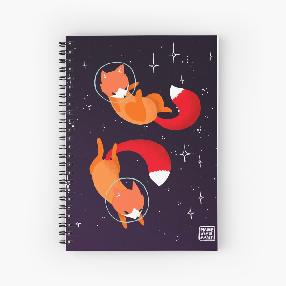 Space Foxes Spiral Notebook