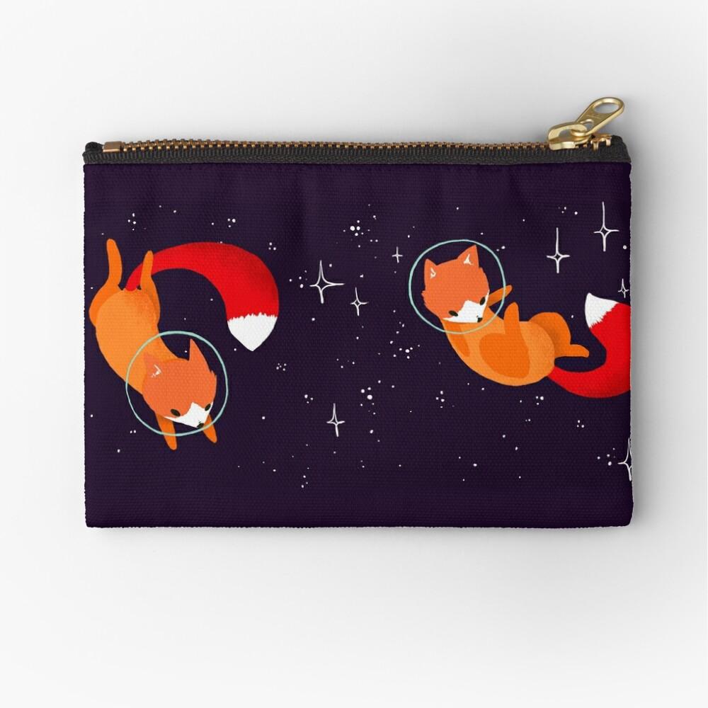 Space Foxes Zipper Pouch