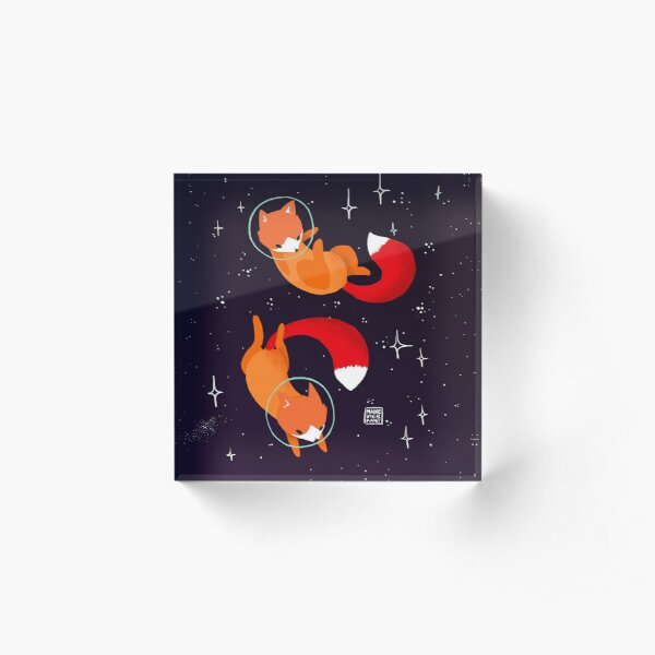 Space Foxes Acrylic Block