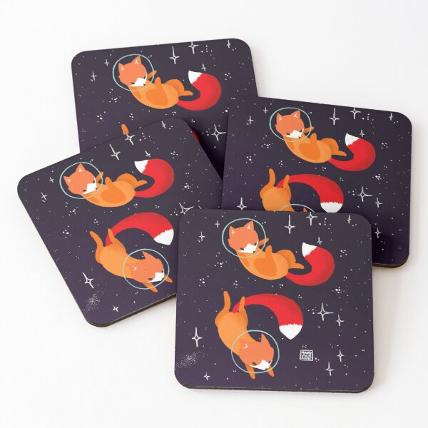 Space Foxes Coasters (Set of 4)