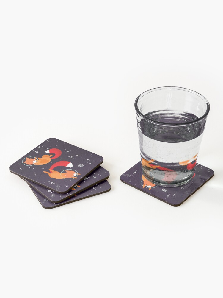 Alternate view of Space Foxes Coasters (Set of 4)