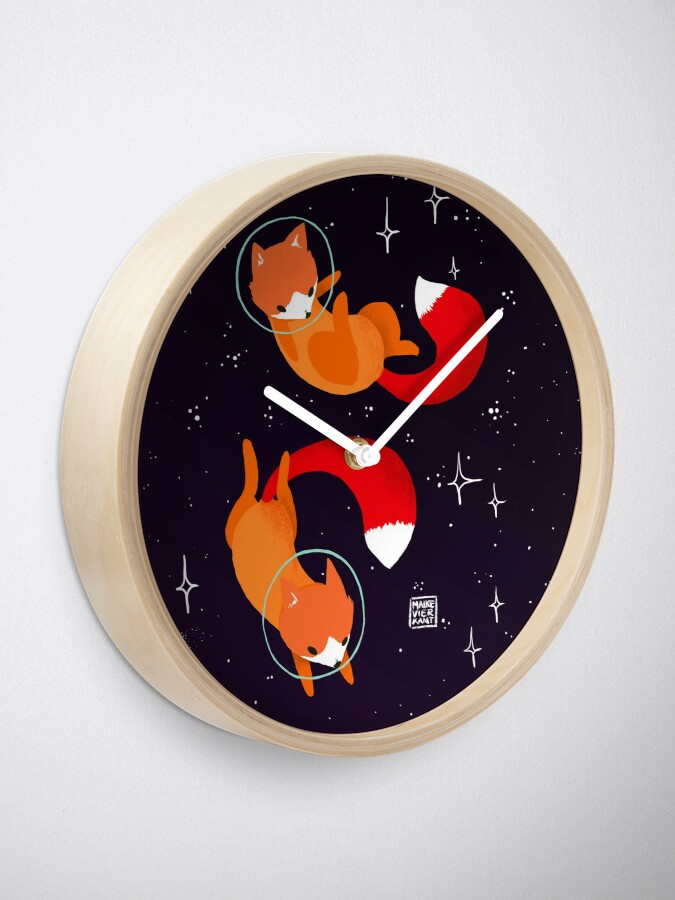 Alternate view of Space Foxes Clock