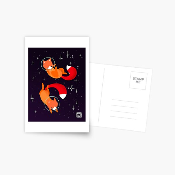 Space Foxes Postcard