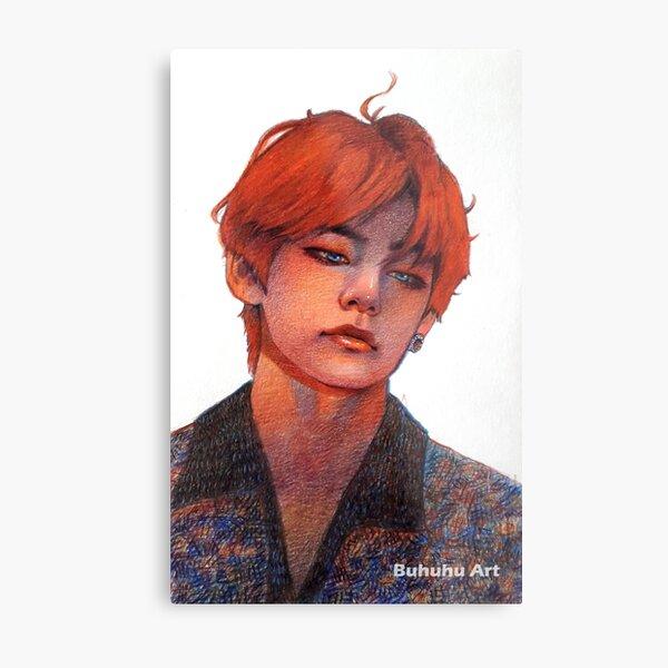 Taehyung 'red' Metal Print