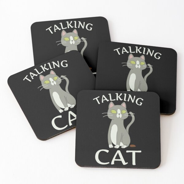 Talking Cat Coasters (Set of 4)