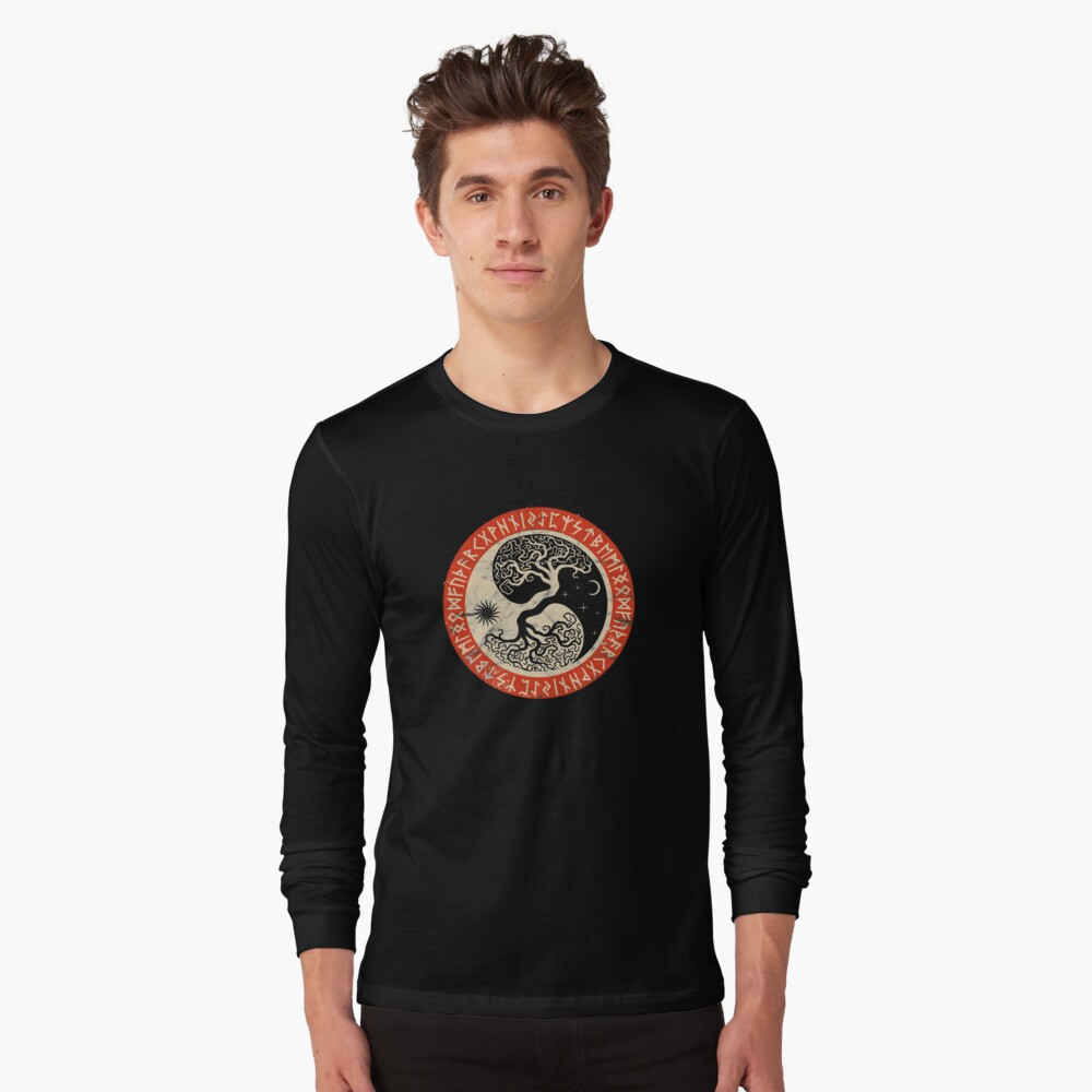 ODIN Long Sleeve T-shirt Norse Viking Valhalla Thor Valhalla
