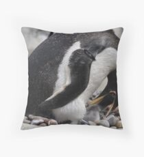 Babys Lunchtime Throw Pillow