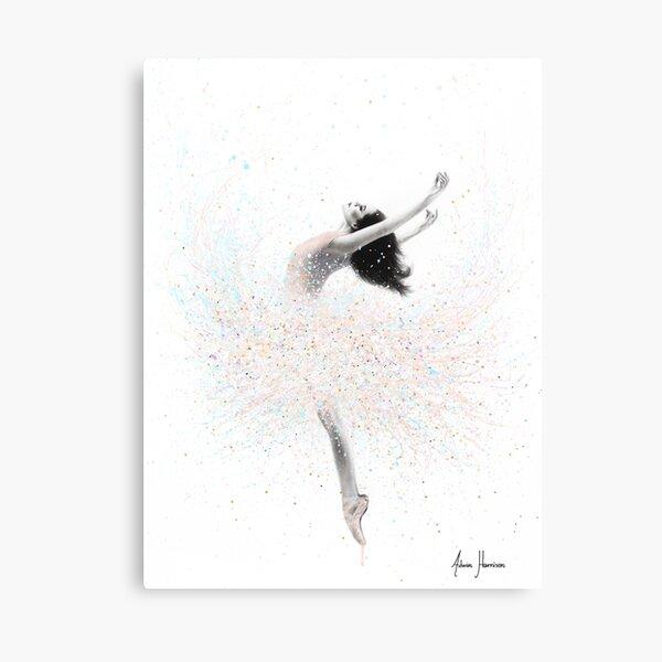 Snow Lake Ballerina Canvas Print