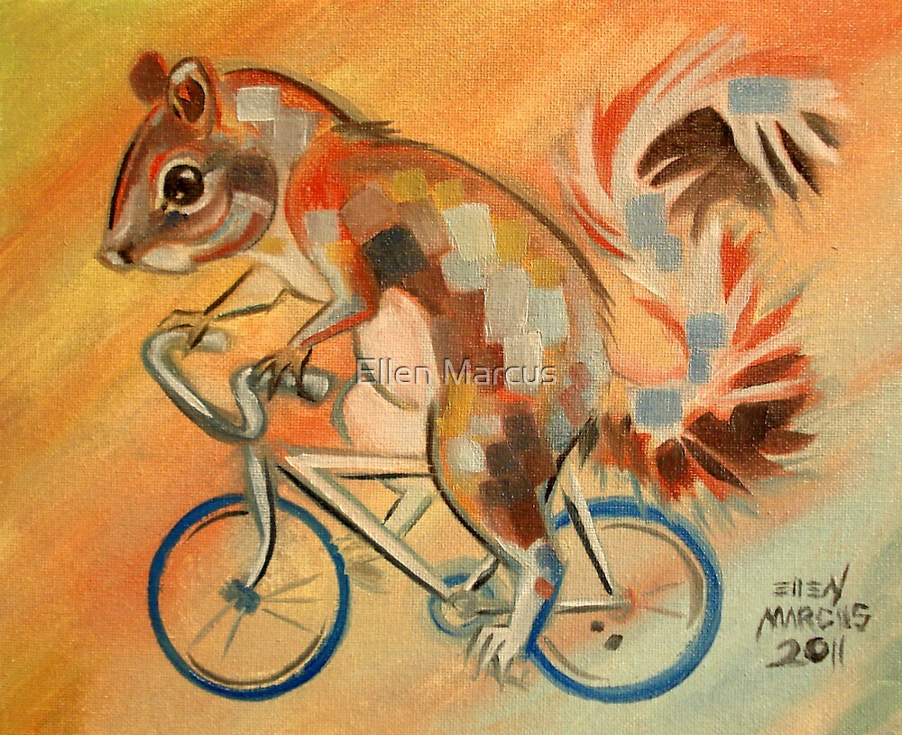Squirrel on a Bicycle by Ellen Marcus