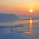 Isfjorden Sunset in March by Algot Kristoffer Peterson