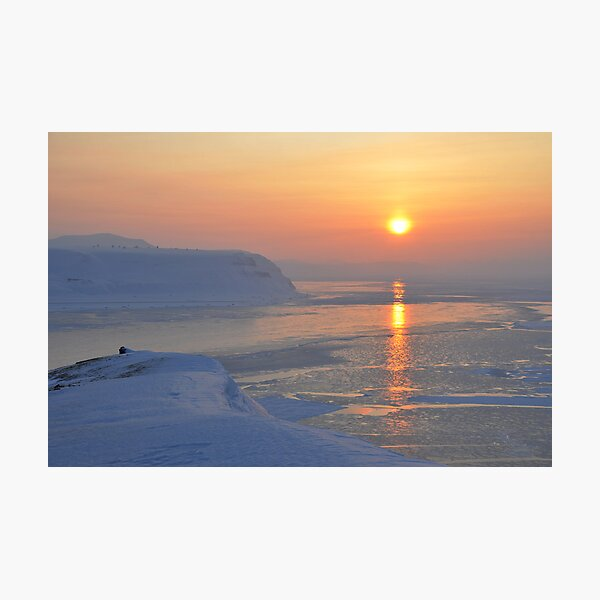 Isfjorden Sunset in March Photographic Print