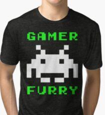 Gamer Furry Tri-blend T-Shirt