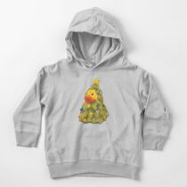 Christmas tree duck Toddler Pullover Hoodie