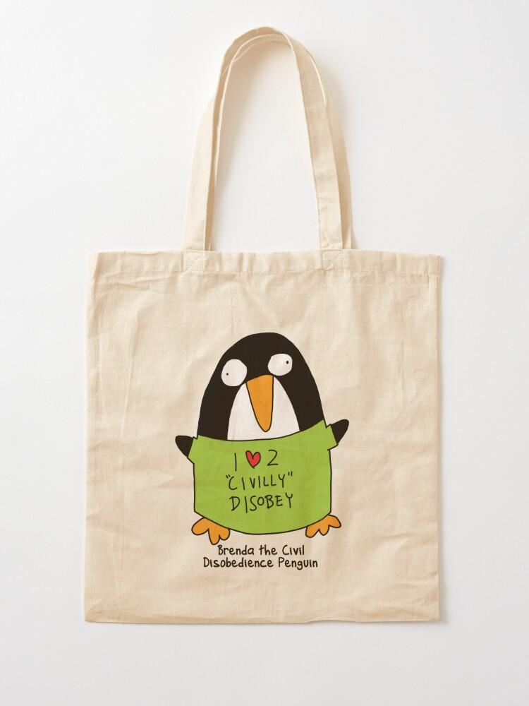 Cotton Tote Bag I Love Penguins