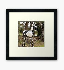 Cow Mail Framed Print