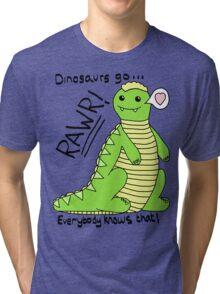 Dinosaurs Go Rawr! Tri-blend T-Shirt