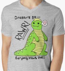 Dinosaurs Go Rawr! Men's V-Neck T-Shirt