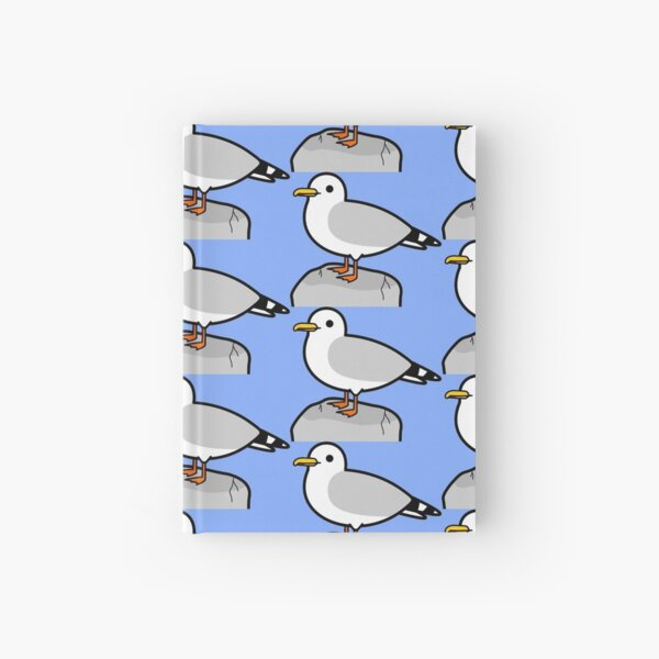 Cute seagull Hardcover Journal