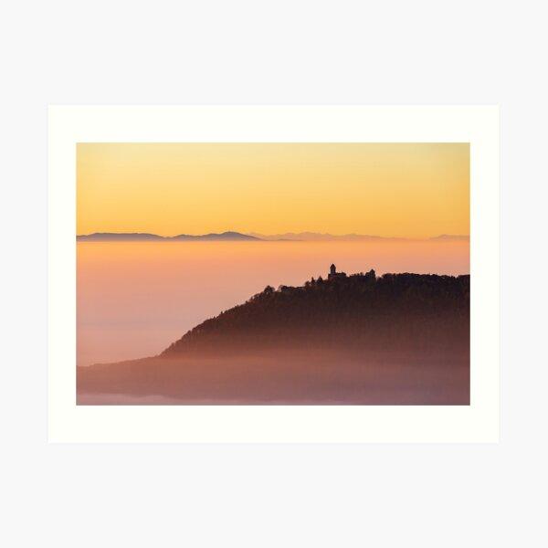 Mer de nuages et Château du Haut-Koenigsbourg Impression artistique