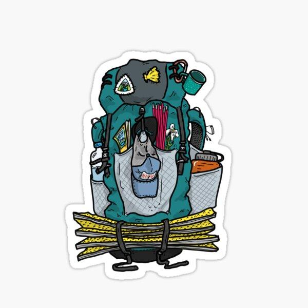 Hiking backpack Sticker