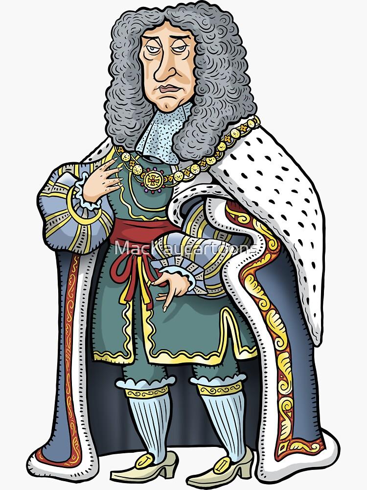 King James II by MacKaycartoons
