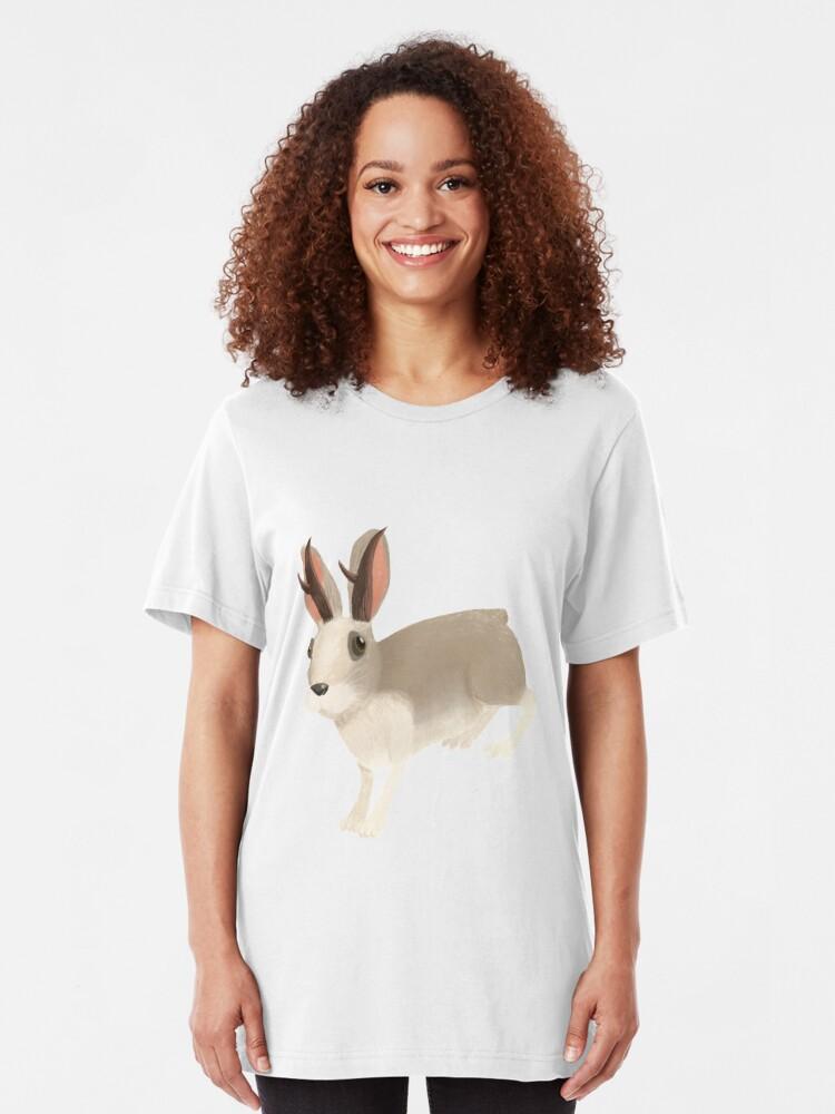 T-shirt ajusté ''Jackalope': autre vue
