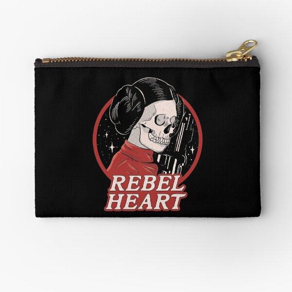 Rebel Heart Leia Skull Zipper Pouch