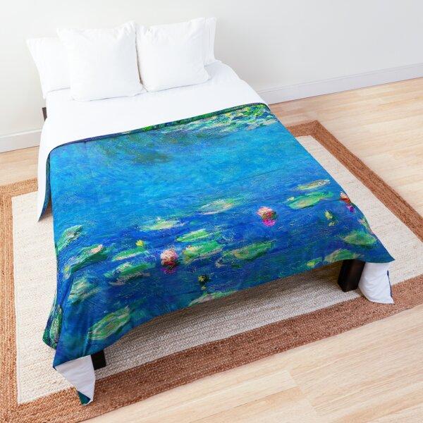 Claude Monet Water Lilies Color-Enhanced Comforter
