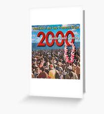 2000 Members Banner Greeting Card