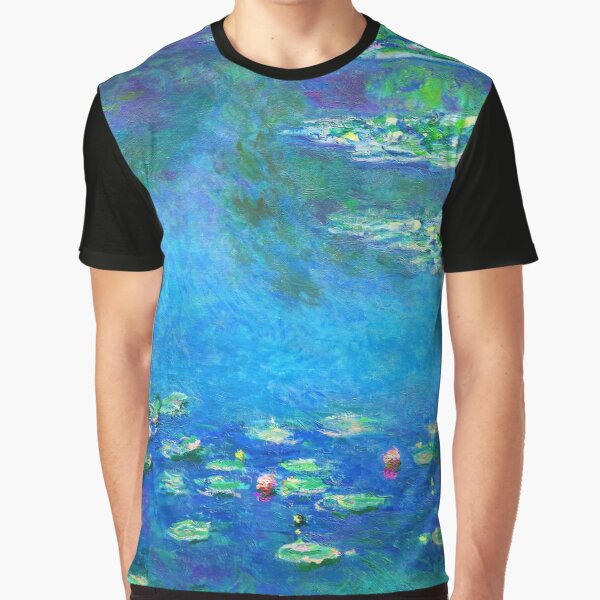 Claude Monet Water Lilies Color-Enhanced Graphic T-Shirt