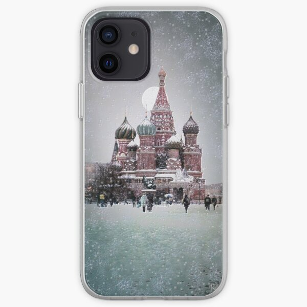 Red Square - Moscow (kodak film with some computer photo manipulation) iPhone Soft Case