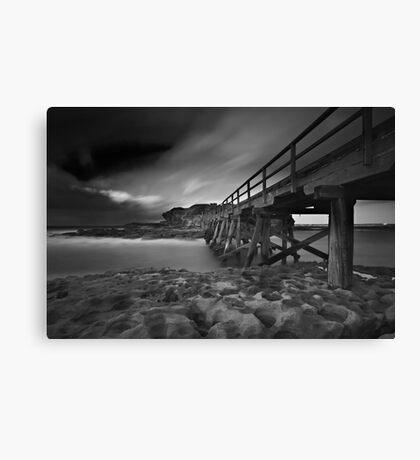 Clouded Bridge Canvas Print