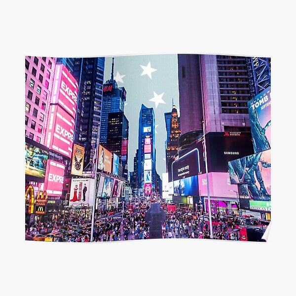 Times Square sticker -   Poster