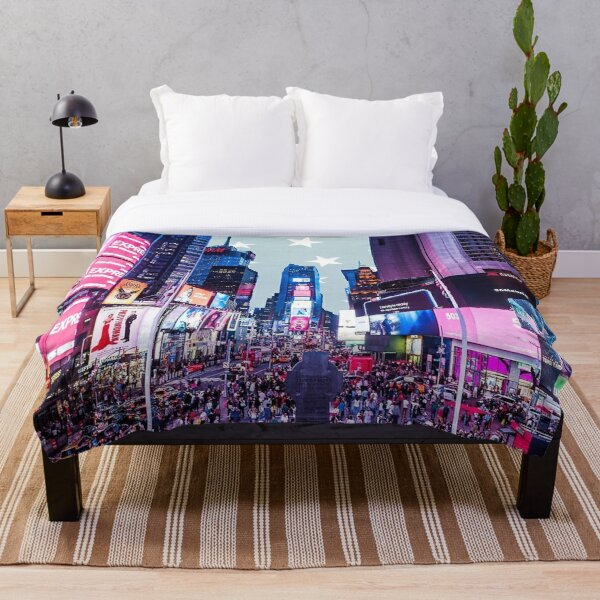 Times Square sticker -   Throw Blanket