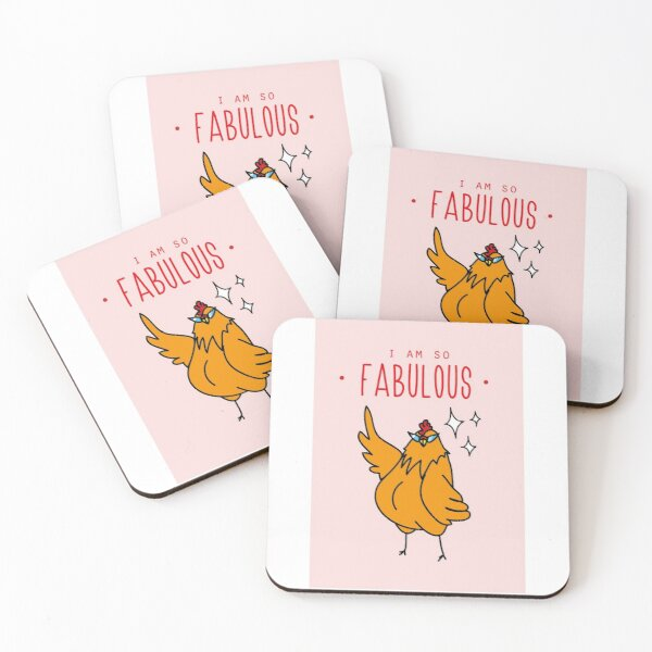 Fabulous Hen Coasters (Set of 4)