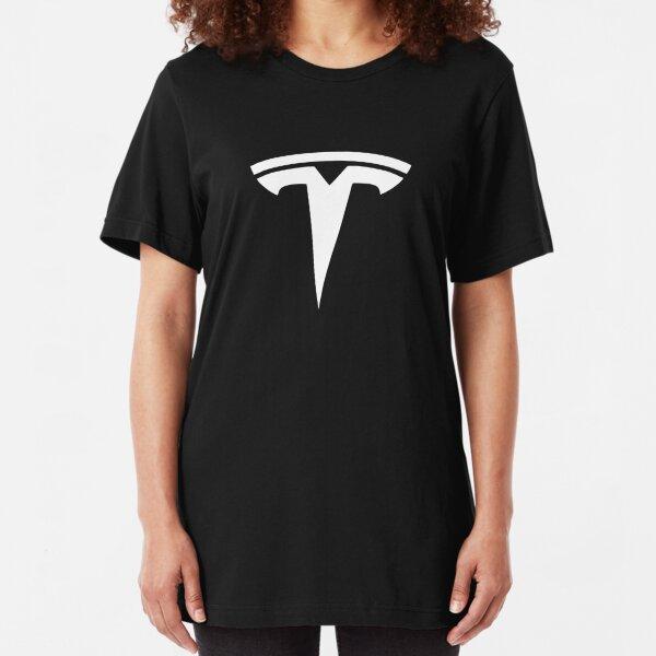 Best Seller Tesla Logo Merchandise Slim Fit T-Shirt