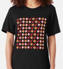 Love Danish Emoji JoyPixels Travel to Denmark Slim Fit T-Shirt