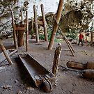 1600-year-old teak coffins, Ban Rai rockshelter, Thailand by John Spies