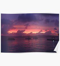 Sunset in Bonaire Poster