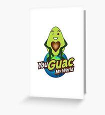 You Guac My World Emoji JoyPixels in Love Avocado saying Greeting Card