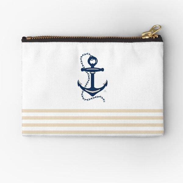 AFE Navy Nautical Anchor Zipper Pouch