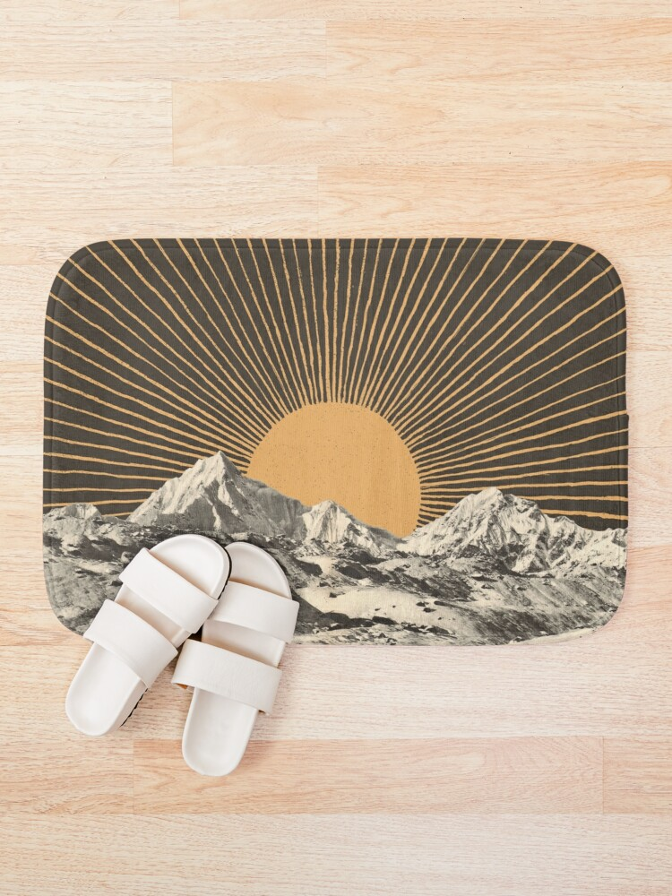 Alternate view of Mountainscape 6 Bath Mat