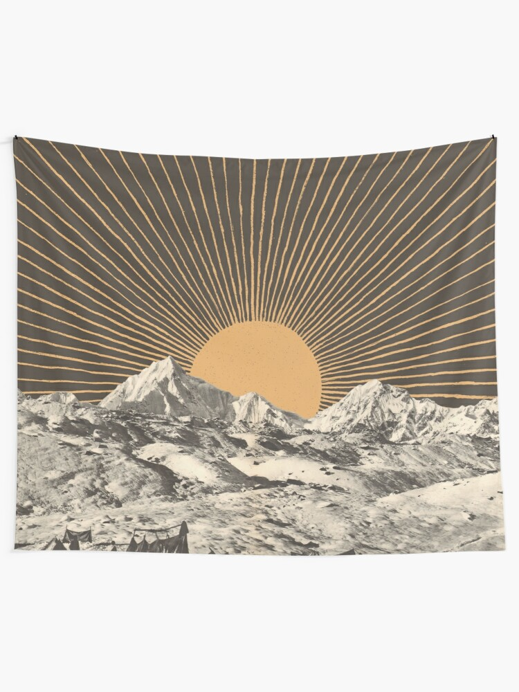 Alternate view of Mountainscape 6 Tapestry