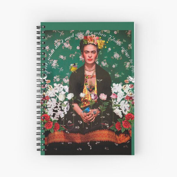 Wings to Fly Frida Kahlo Spiral Notebook