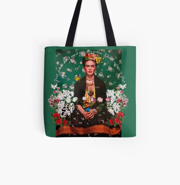Wings to Fly Frida Kahlo All Over Print Tote Bag