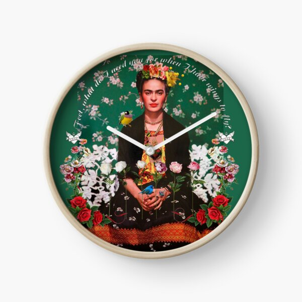 Wings to Fly Frida Kahlo Clock
