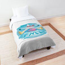 FML Unicorn Emoji JoyPixels Funny Comforter