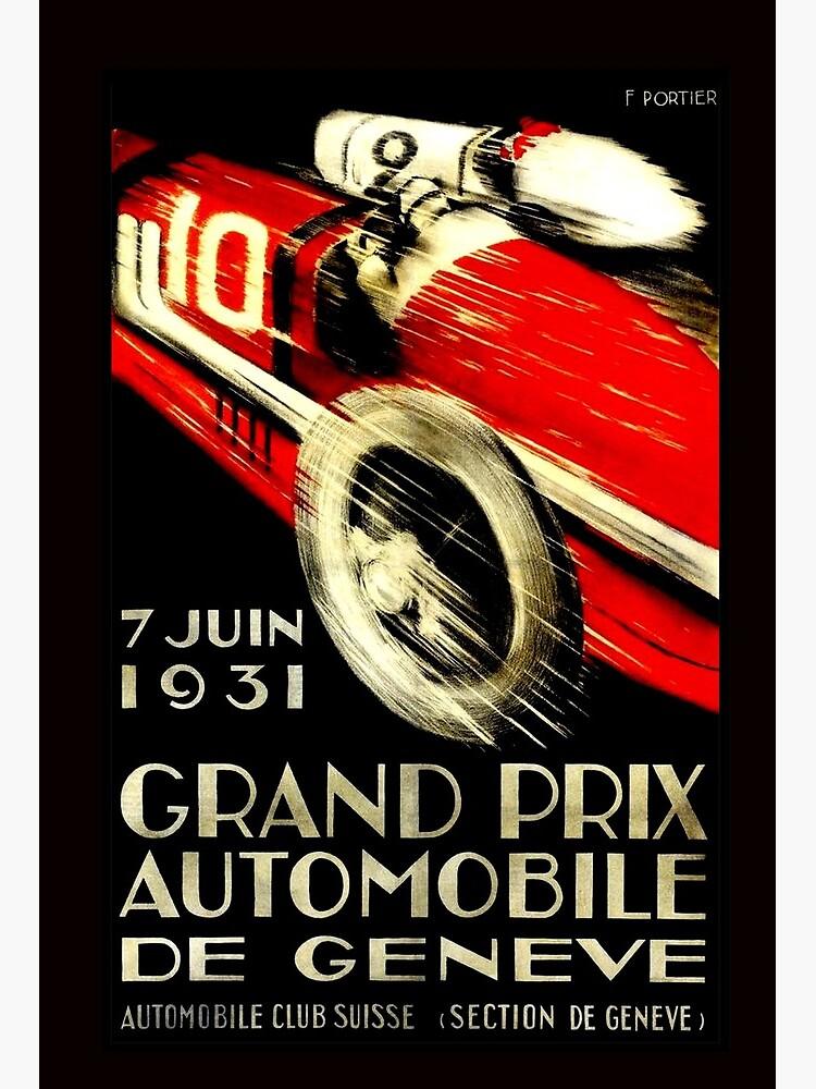 1931 Monaco Grand Prix Vintage Racing Poster 6 sizes, matte+glossy avail