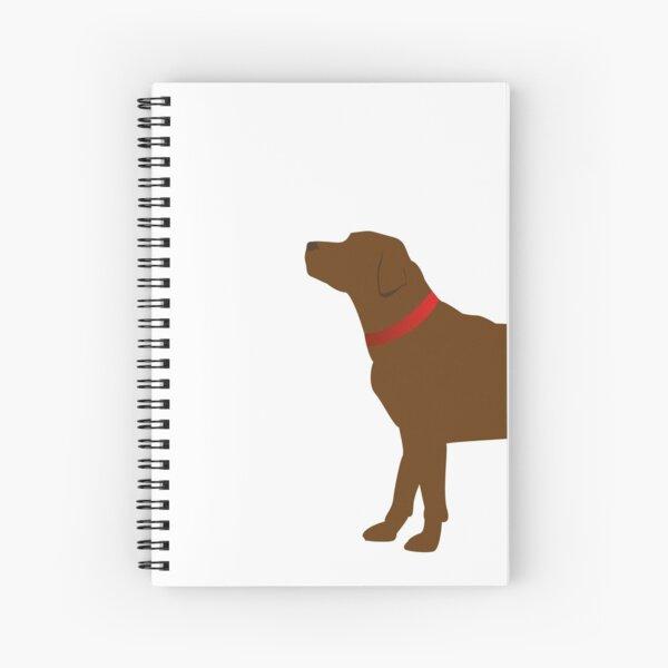 Chocolate Labrador Red Collar Spiral Notebook